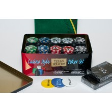 Набор для покера Holdem Light Premium (Poker Chips) на 200 фишек